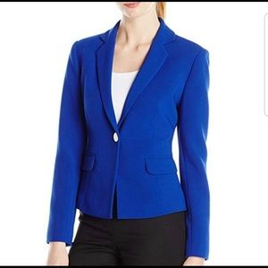 Ellen Tracy cobalt blue one-button blazer (Sz 4)